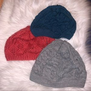 Bundle of winter hats